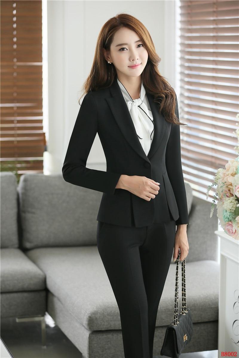 f16d624761a0 Uniformi Stili Tailleur Blazer Giacca Dei Per Grigio Nero Donna Vestiti Di  Affari Con Ufficio Pantaloni Set Il Pantalone Eleganti grigio E qwTOaCC