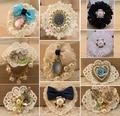 Handmade silk flower little brooch/New 2015 designer brands luxury fashion jewelry wholesale/broches/pins/boutonnieres bijoux