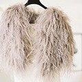 Elegante Pena de Avestruz Pele do Inverno Casacos De Casamento 2016 Formais Mulheres Quente Capes Nupcial Boleros Xailes Acessórios Do Casamento B165