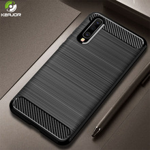 Keajor Case For Samsung Galaxy A70 Case Soft Silicon Cover Carbon Fiber Phone Case Shockproof Funda For Samsung A 70 A70 Cover for samsung galaxy a70 case silicone anti slip carbon fiber soft tpu back cover for samsung a70 2019 case funda slim texture