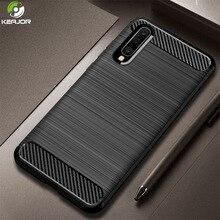 Keajor Case For Samsung Galaxy A70 Soft Silicon Cover Carbon Fiber Phone Shockproof Funda A 70