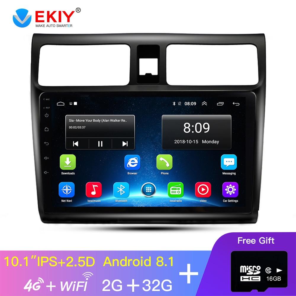 EKIY 10.1'' IPS 2.5D No 2 Din Android Car Radio Multimedia Player Audio GPS Navigation For Suzuki Swift Head Unit 4G/WIFI