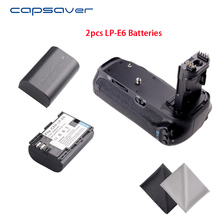 Capsaver BG-1T Vertikale Batterie Griff Halter mit 2 stücke LP-E6 Batterien für Canon EOS 70D 80D Ersatz für BG-E14 Batterie set