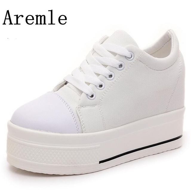 Selling Ladies High Platform Sneakers Shoes Fashion Hidden Heel Womens  Trainers Zapatillas Mujer Plataforma Walking Shoes ef6e9f0bd