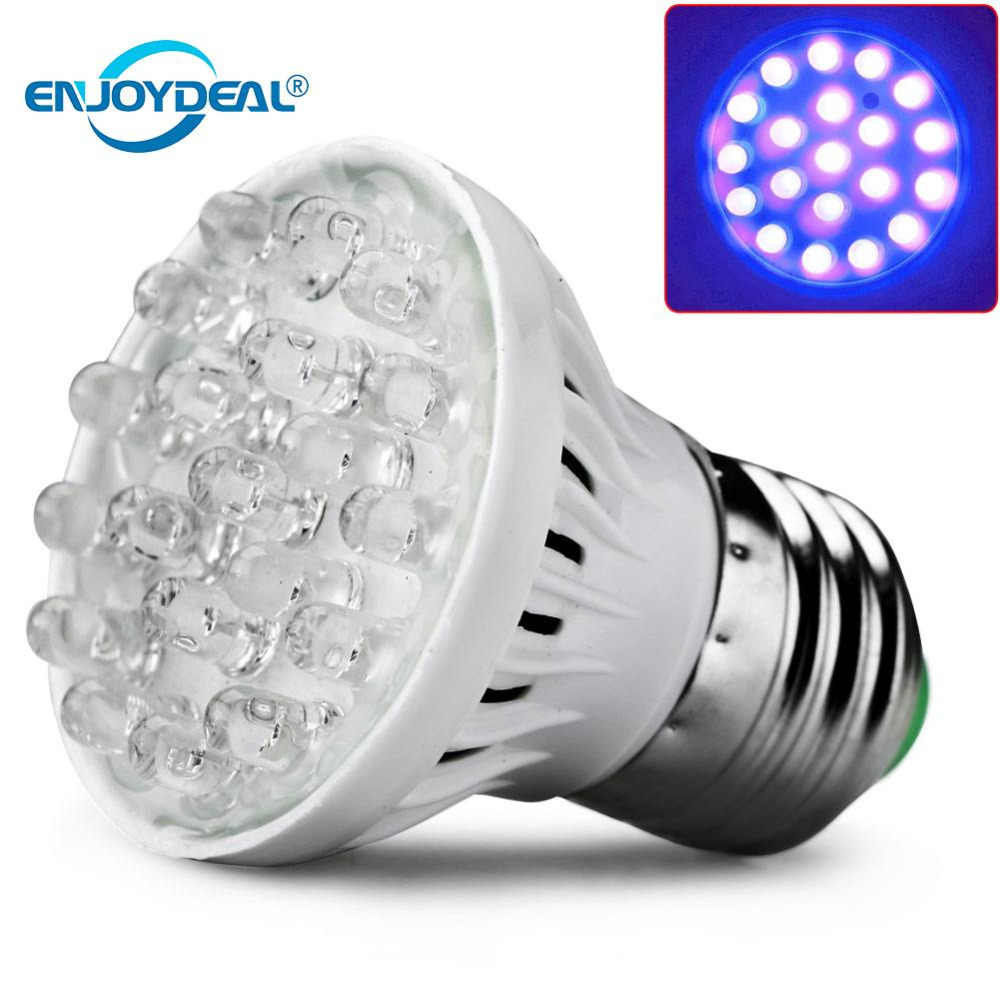 enjoydeal E27 20LED Plant Grow Light Lamp UV Light Bulb Energy saving Grow Light Indoor Hydroponic Vegetable 220V LED lights