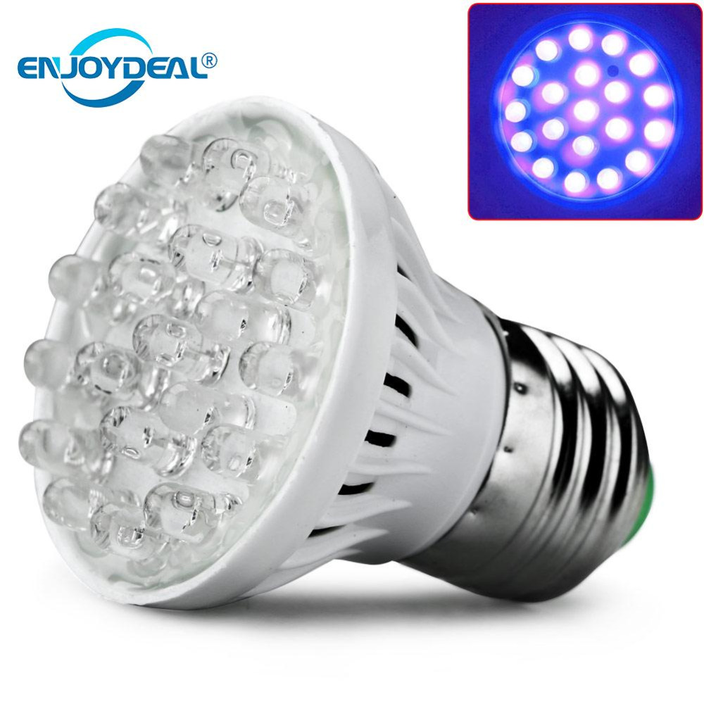 enjoydeal <font><b>E27</b></font> 20LED Plant Grow Light Lamp <font><b>UV</b></font> Light <font><b>Bulb</b></font> Energy saving Grow Light Indoor Hydroponic Vegetable 220V LED lights image
