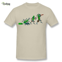 100% Cotton Boy Pickle Rick And Morty Evolution T Shirt Funny Picture For Man T-Shirt
