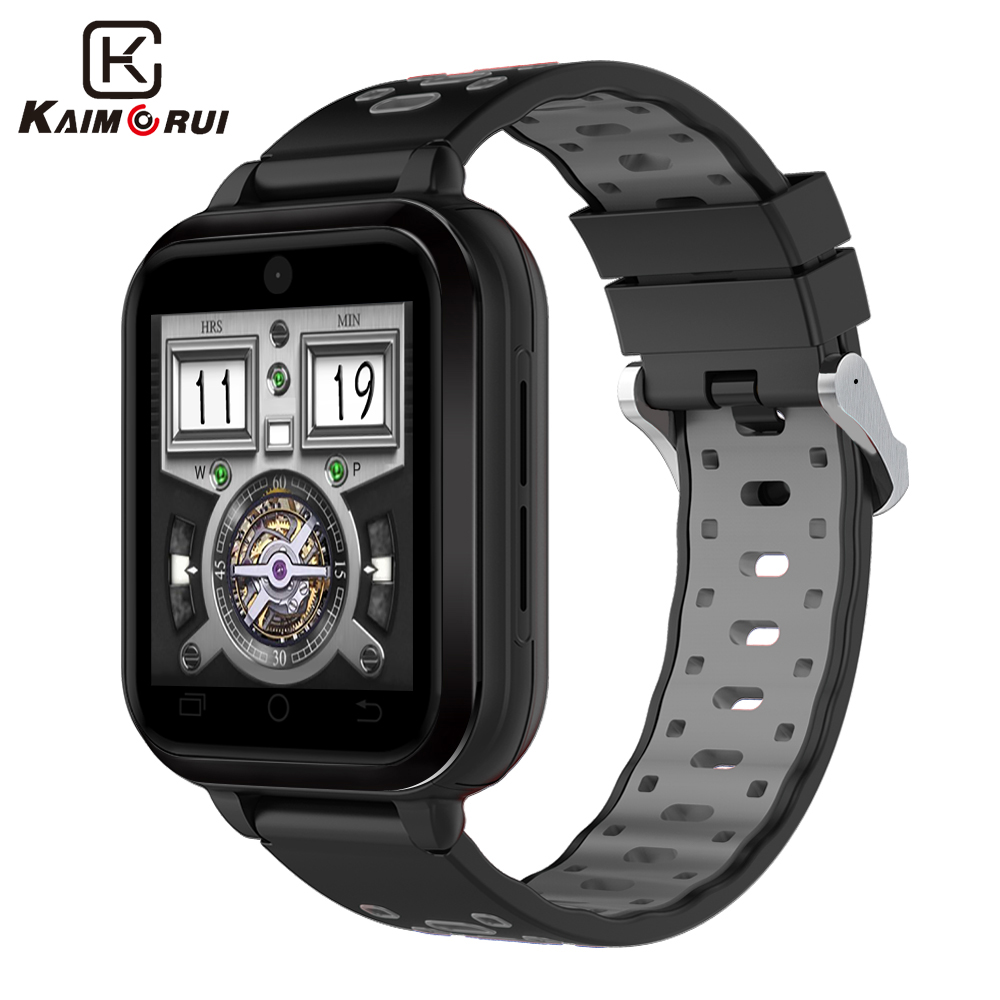 Kaimorui 4G Smart Watch Android 6.0 MTK6737 Quad Core 1G/8G SmartWatch IP67 Waterproof Support WIFI GPS SIM Card Camera no 1 d5 bluetooth smart watch phone android 4 4 smartwatch waterproof heart rate mtk6572 1 3 inch gps 4g 512m wristwatch for ios
