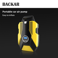 BACKAR Universal Car Air Pump Tire Inflator Compressor Stickers For Citroen c4 Suzuki swift SX4 Volkswagen VW Polo Accessories