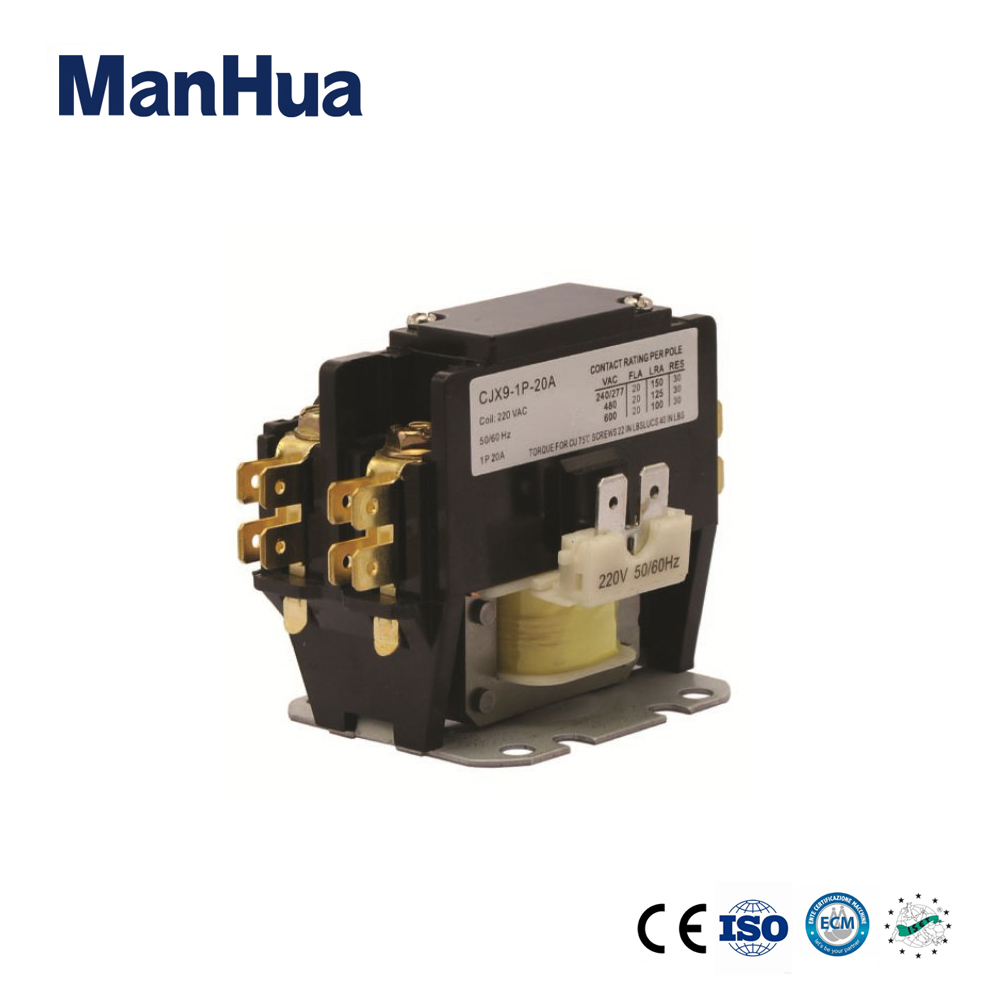 Manhua Single Phase 220v Cjx9 Contactor For Air Condition Ac 1 Pole Magnetic Wiring 2 3 4
