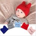 Nova Moda Primavera Outono Inverno Chapéu Do Bebê Dos Desenhos Animados Menino/Menina de Algodão Listrado Bebê Recém-nascido Carta Leite impresso Gorros 6M-36Month