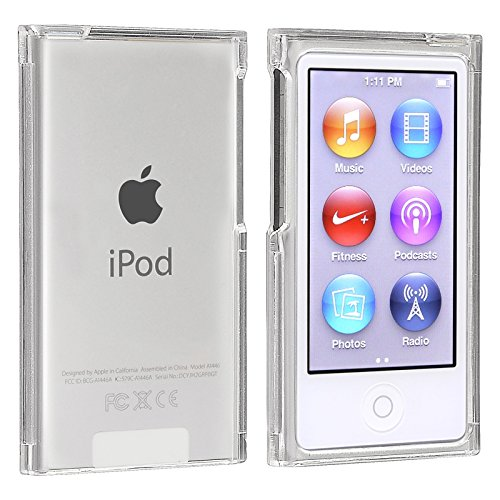 Image 2 - New Crystal Clear Transparent PC Hard full Boby Protection Skin Case Cover For Apple iPod Nano 7 cases Nano7 7G 7th fundas coque-in MP3/MP4 Bags & Cases from Consumer Electronics