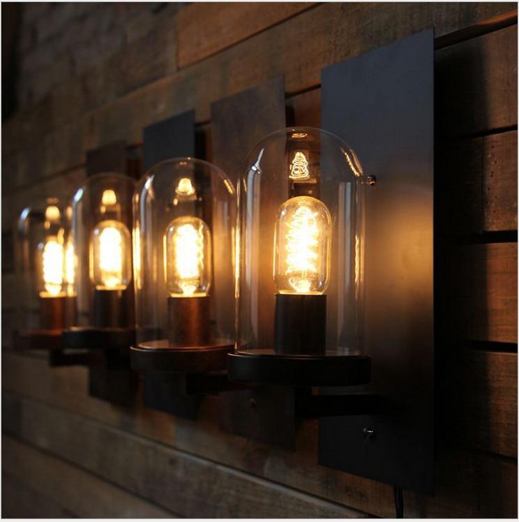 Retro Loft Style Industrial Edison Vintage Wall Light Lamp Antique Iron, Edison Wall Sconce Lamparas De Pared loft style vintage wall lamp industrial creative iron retro wall light fixtures simple edison lamp wall sconce lamparas