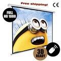 4:3 elektrische Projektor Bildschirm pantalla proyeccion für LED LCD HD Film Motorisierte Projektion Bildschirm 72 84 100 zoll verfügbar