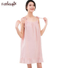 22bda68605 Fdfklak Women Nightwear Nightdress Sleeveless Summer Cotton Nightgown  Casual Loose Sleeping Dress Nightshirt Girls Nighty(