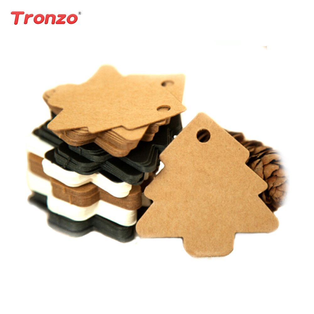Hot Sale Tronzo 50pcs Diy Kraft Tag Christmas Decoration For Home