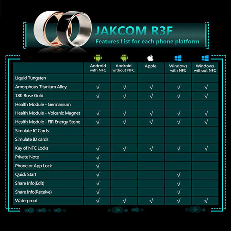Jakcom R3F anneau intelligent pour téléphone électronique NFC haute vitesse accessoires intelligents 3-preuve App activé technologie portable anneau magique