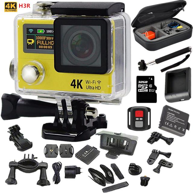 """Câmera de ação Original H3R Ultra HD 4 k 2.0 """"+ 0.95"""" Screen Câmera esporte à prova d' água 30 m Lente ir pro Estilo 170D ação cam vídeo cam"""