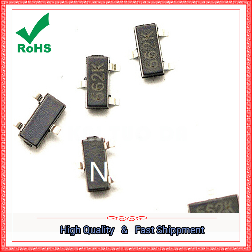 100pcs XC6206P332MR SOT XC6206P332 SOT23 XC6206 <font><b>SMD</b></font>(<font><b>662K</b></font>) 3.3V/0.5A Positive Fixed LDO Voltage new and original free shipping image