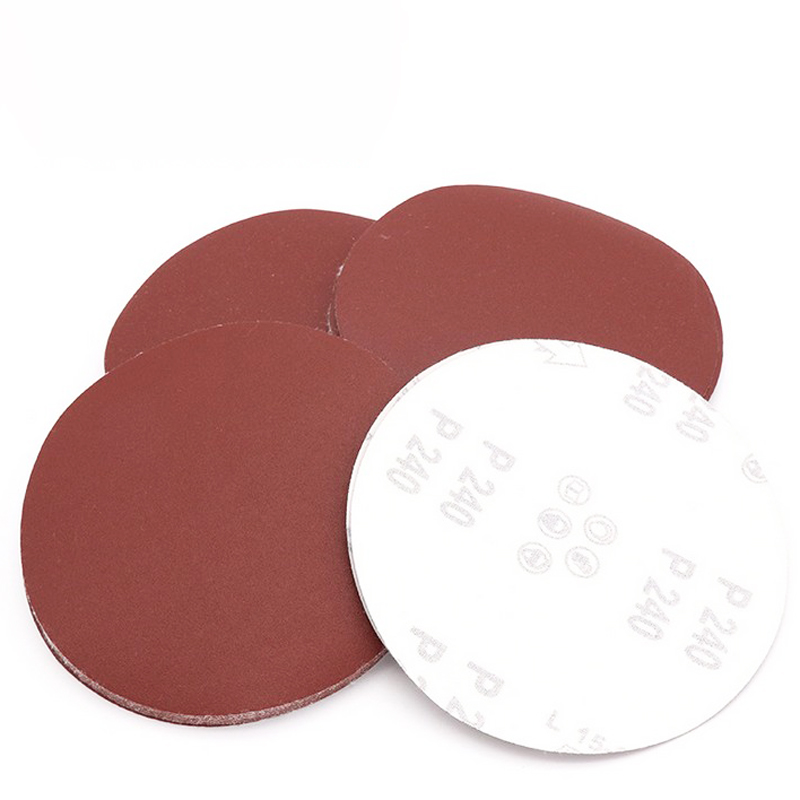 4 Inches Sandpaper Disc 80 Grit Hook and Loop Wet and Dry Waterproof Abrasive Sanding Paper Flocking NO Hole 10 pcs