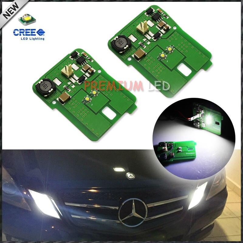 2 pcs Correspondência HID Branco LEVOU Montagem de Luz de Posição de Estacionamento Para 2010-Mercedes 13 W212 E-Classe E350 e550 E63 AMG Pré-LCI