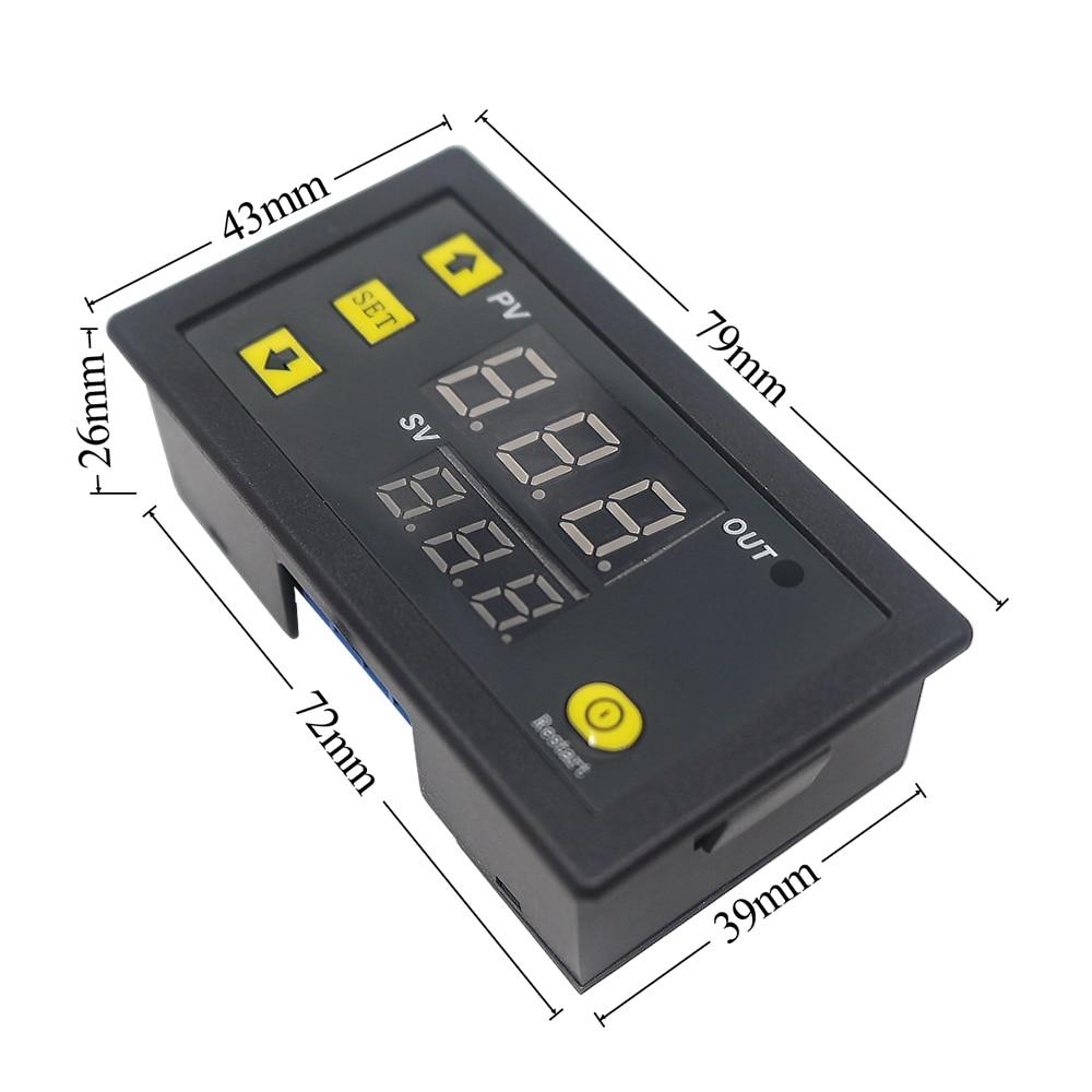 W3230 DC 12V 24V 110V-220V AC Digital Temperature Controller LED Display Thermostat With Heating/Cooling Control Instrument