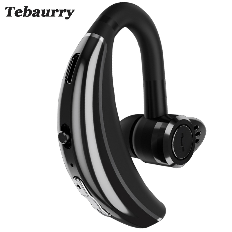 Tebaurry Q8 IPX6 Waterproof Business Bluetooth Earphone Wireless Headphone HD Mic Noise Cancelling Bluetooth Headset for phone