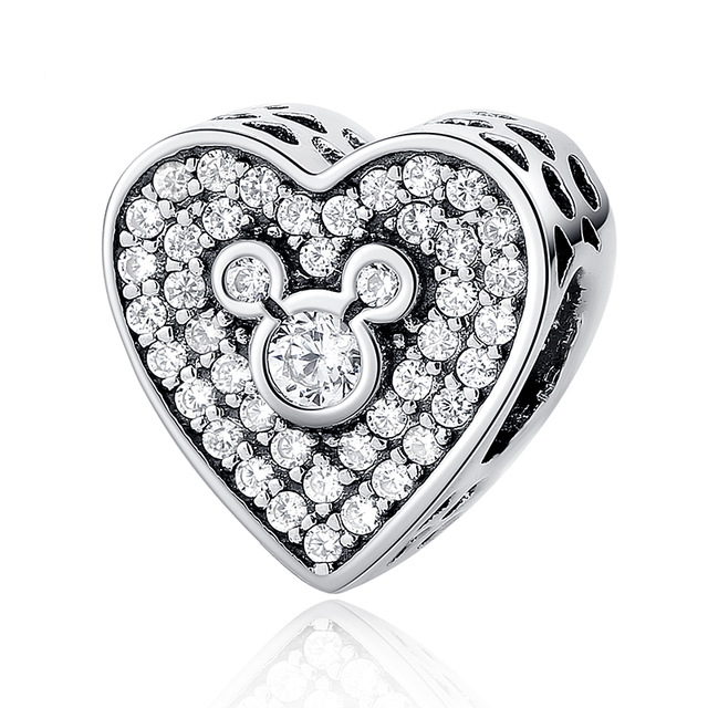 2017 Authentic 925 Sterling Silver Dazzling Clear Charm Beads Fit Pandora Charm Bracelet Bangles Pendants DIY Original Jewelry