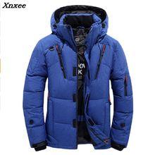 2018 Winter Jacket Men Thicken Warm Hoodies Hooded Parkas Long Sleeve Down Jacket Zipper Outwear Overcoat Plus Size XXXL Xnxee zipper buttons hooded mens thicken down jacket