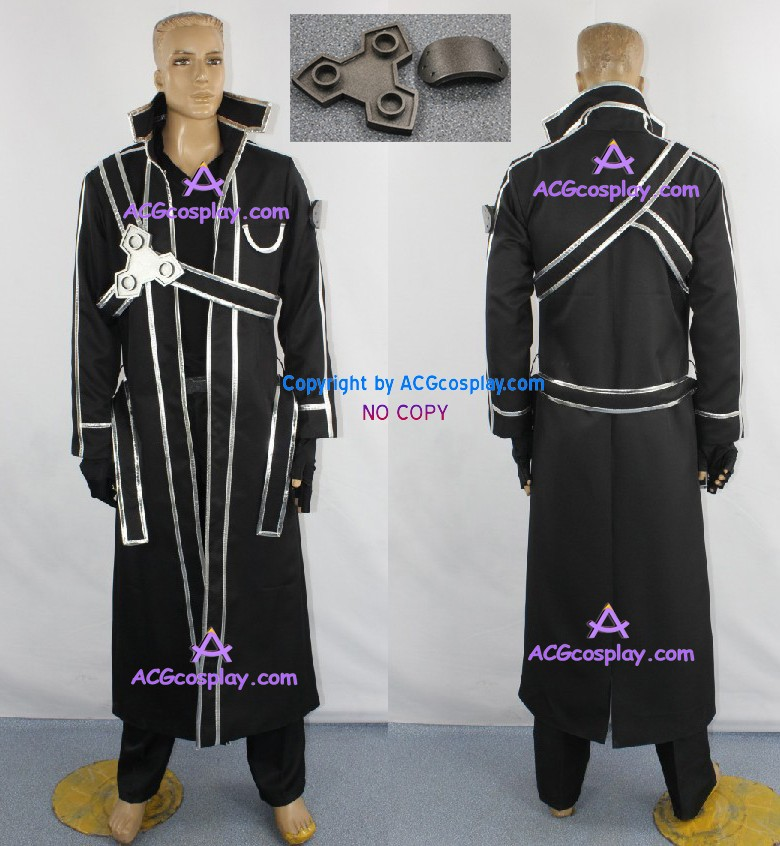 Sword Art Online Kirito Cosplay Costume incl.buckles prop ACGcosplay anime costume game costume