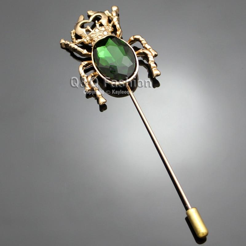 Egyptian Khepri Scarab Beetle Gold Lapel Stick Pin Tie Scarf Rhinestone Brooch Broches For Women Pins Badge Gift Men Jewelry