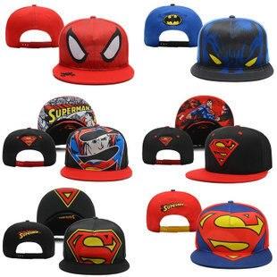 Free shipping unisex superman batman cartoon baseball cap Hip-hop hat DJ hat  snapback wholesale 4f1f9d4e3368