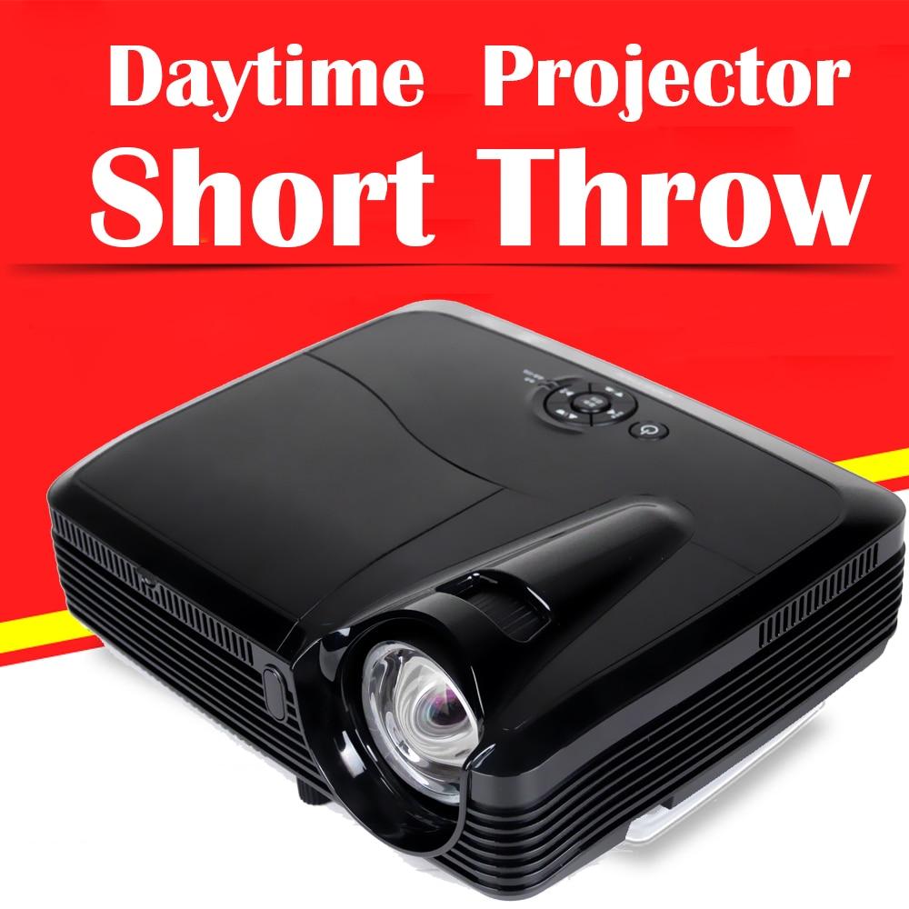 Ultra Corto Alcance Proyectores 1080 P Full HD 3D Led Daytime Películas de vídeo