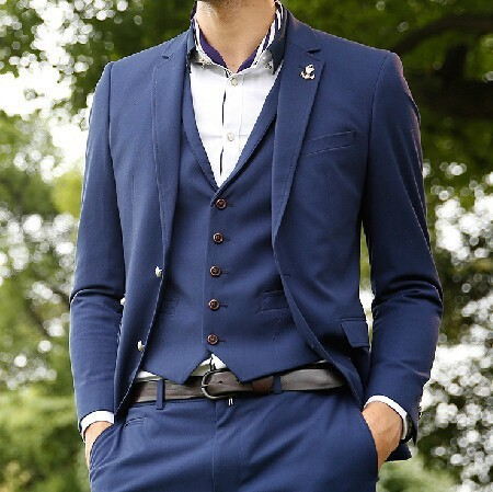 New Design Jacket Pant Vest Blue Wedding Suit 2017 Modern Mens Suits Slim Fit Men For In From S Clothing Accessories