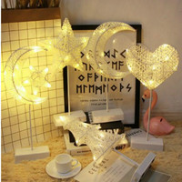 LED Night Lights new night Lights romantic teen heart bedroom decorative table lamp net red Christmas star styling lamp