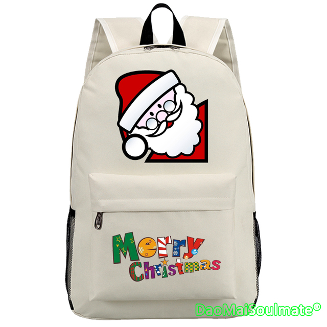 Merry Christmas Gift for Children Girls Anime School Bags Boys Xmas Present  Students Cartoon Backpacks Shoulder Bag Rucksack 679d11dbfbf22