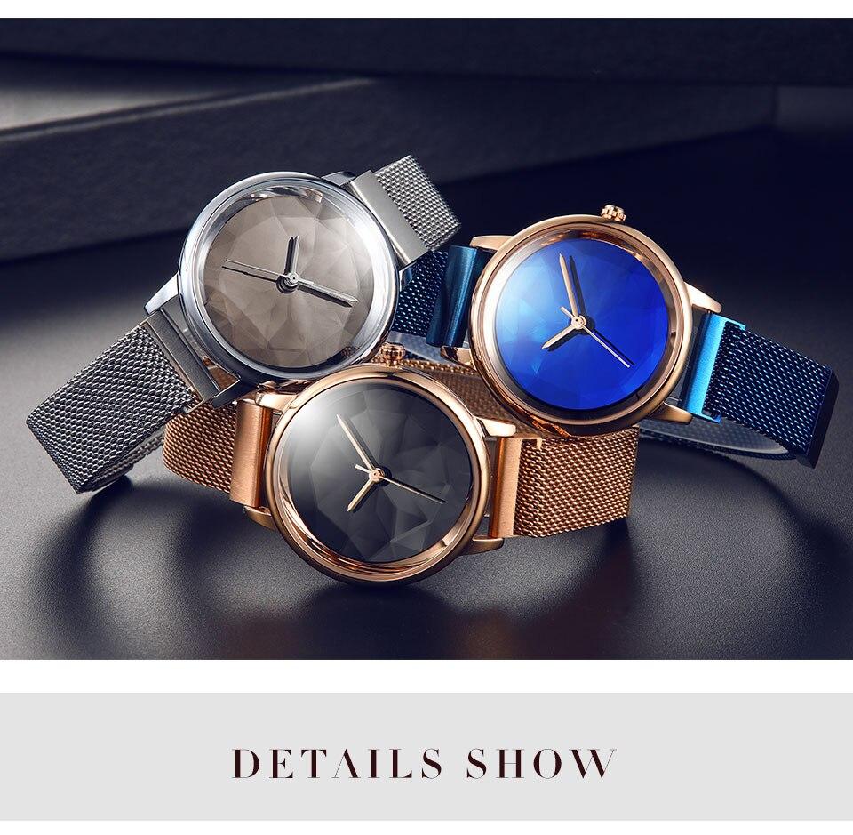 IBSO Azul Relógios Das Mulheres Marca de