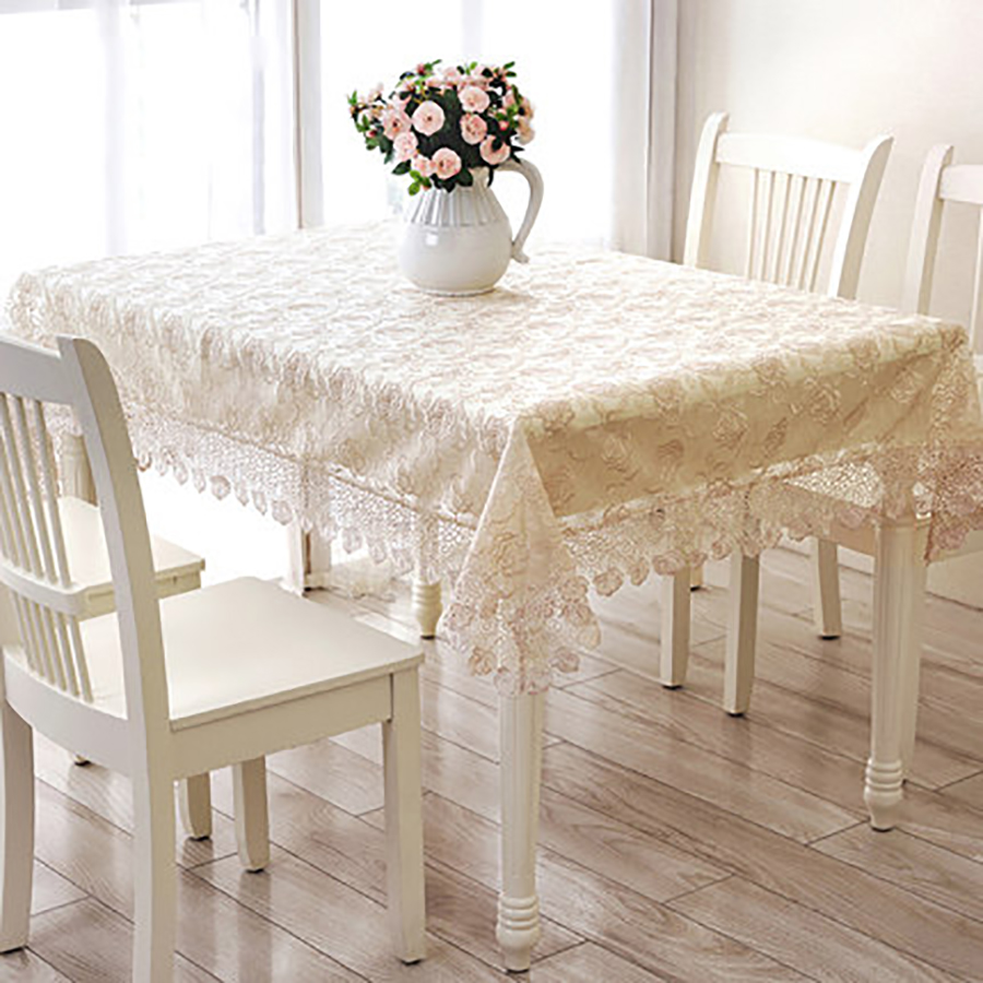 Genial Table Cloth Mesa Round Tablecloth Dining Table Lace Manteles Embroidery  Modern Decoration Doilies Luxury Tablecloths QQO434 In Tablecloths From  Home ...