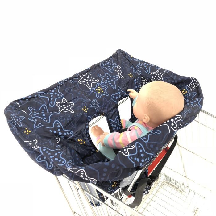 5 цветов Материал персиковый; кожа, вельвет Стандартный детский размер, корзина для покупок, стульчик для кормления и удобные корзину Обложка для младенцев и детей ясельного возраста - Цвет: Navy Starfish