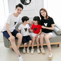 2017 matching mother daughter clothes summer Korean Dad Mom Baby cotton Short Sleeve t-shirt  Couples TOPS