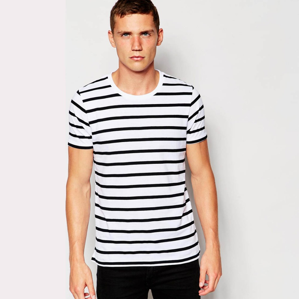 White Shirt With Black Lines Artee Shirt