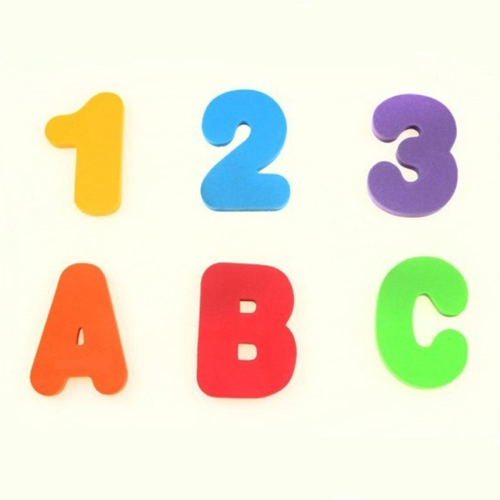 3 New Baby Bath Toy 36pcs Soft Foam Letters Numbers Bath Letters