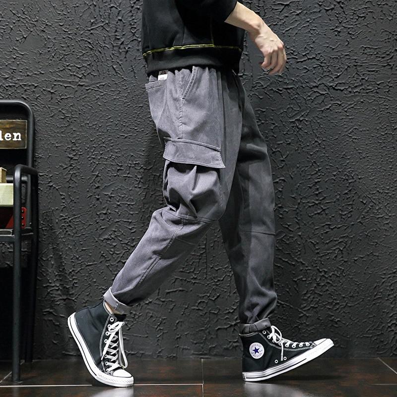 armygreen Élastique 2019 De Size 5xl asian Militaire Harem Velours Côté Noir Armée Vert Pantalon Size Cargo Ck36 Vêtements asian gray Hommes Taille Poches asiansize Black gdqPw8q