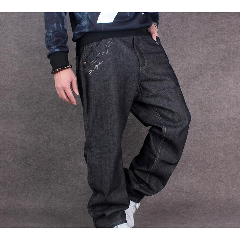 Hot new large size jeans fashion loose Big pockets hip-hop casual men jeans hot new large size jeans fashion loose jeans hip hop casual jeans wide leg jeans