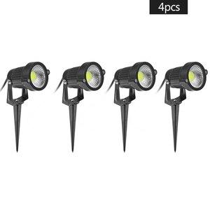 4 Pcs Outdoor Lighting Lawn Lamp 12V 5W COB Waterproof LED Flood Spot Light Garden Wall Yard Path Light Landscape light(China)