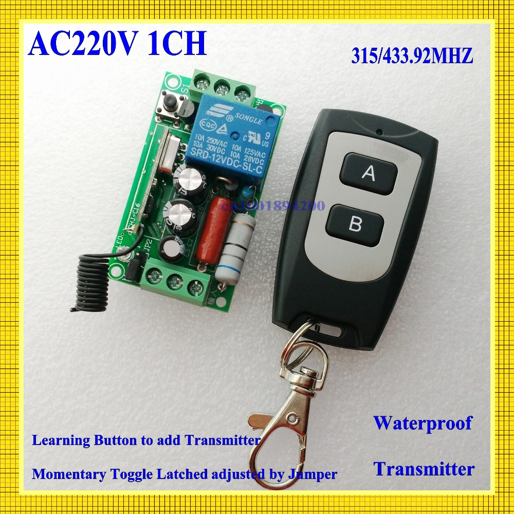 RF Remote Control Switch AC 220V 1CH 10A Relay wireless light switch 315/433.92 Remote Switch Receiver Transmitter COM NO NC ac 220v wireless remote control switch 1ch relay module receiver transmitter led lamp light strips power remote control switch