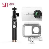 YI 4 К действие Камера Комплект с Водонепроницаемый чехол и селфи рукоять 2,19 ЖК дисплей жесткие Экран Wi Fi International версия спортивные Камера