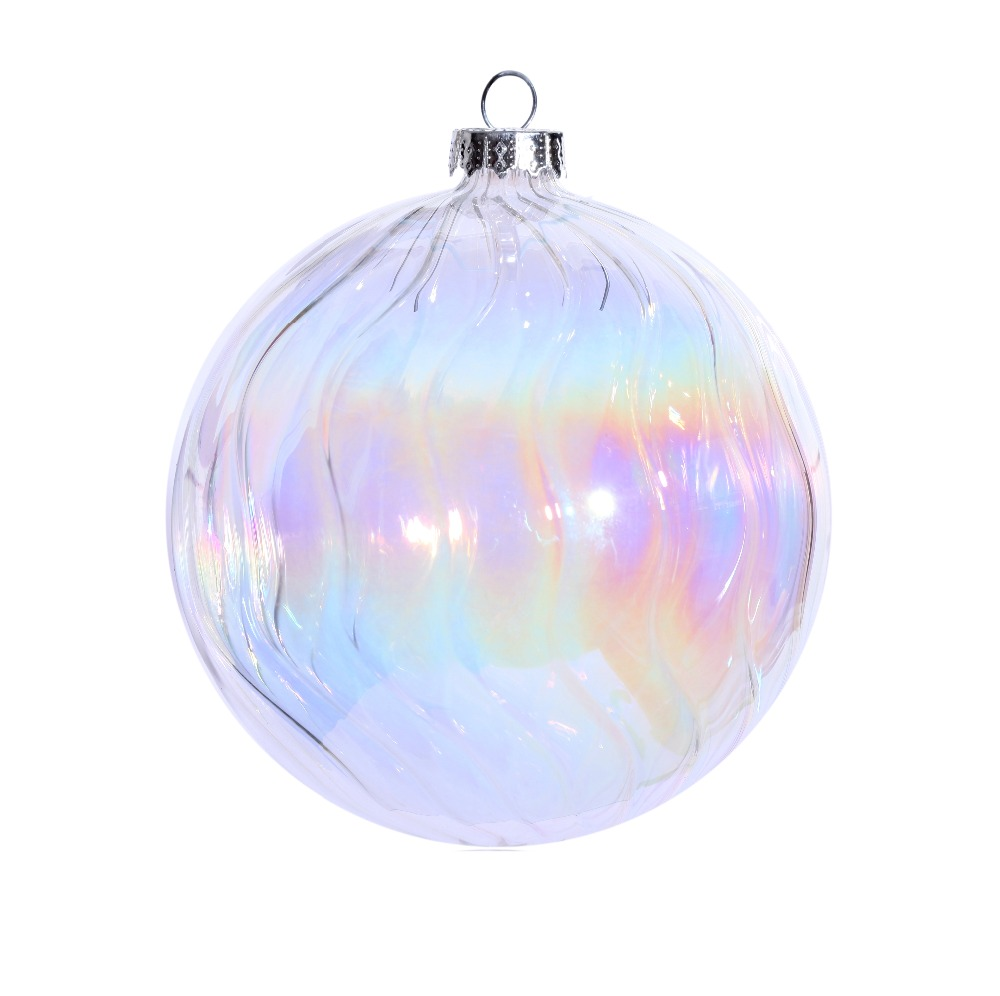 Clear Christmas Ornaments.Us 25 0 Promotion Diy Paintable Transparent Clear Christmas Ornament Decoration 100mm Glass Rainbow Glass Ball 5 Pack In Ball Ornaments From Home