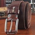 NUEVA Piel de Vacuno Genuino/PU Cinturón Hombres Mujeres hebilla de cuero de Diseñadores de alta calidad Famosa Marca de lujo de Ancho 3.8 CM longitud 110-120 CM