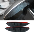 Car Styling Carbon rearview mirror rain eyebrow Rainproof  Flexible Blade Protector Accessory For Skoda Superb 2008-2016